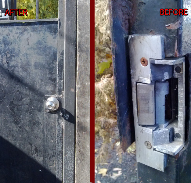 Lock Fixed on Ironwork Door