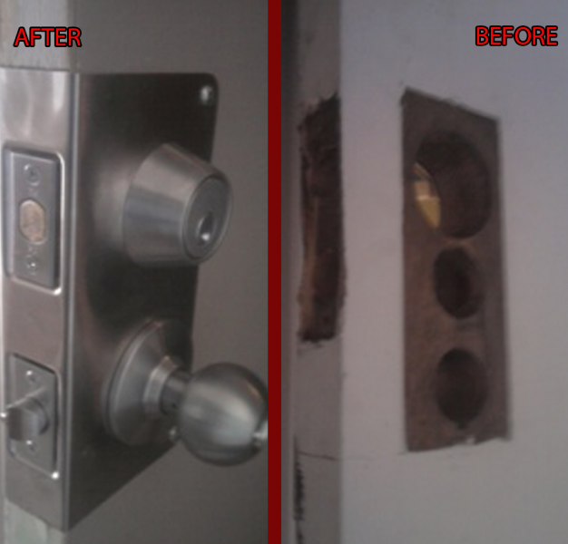 Top and Bottom Lock Installation