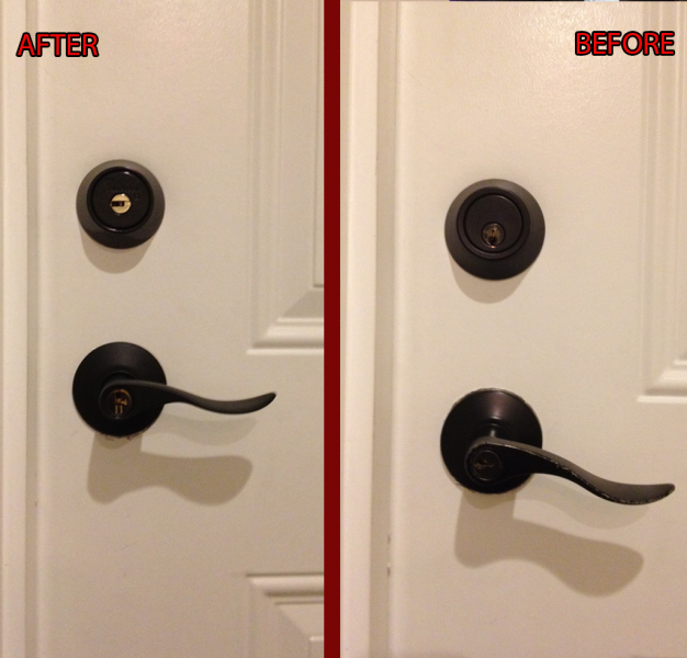 New Lock Installation with Architectural Lock Hardware