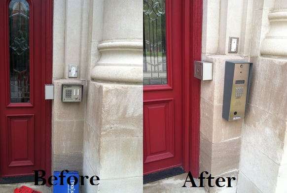 Mircom Intercom Installation done by NONSTOP Locksmith