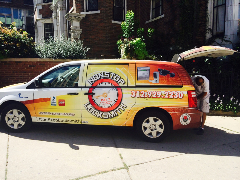 Check-out our New Locksmith Vehicle on Street of Chicago